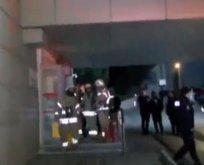 Gece yarısı hastanede korkutan yangın