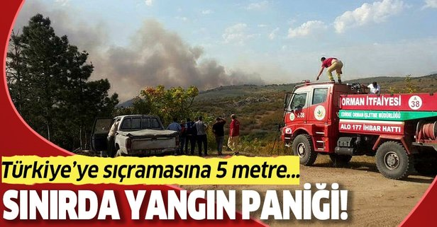 Bulgaristan sınırında yangın alarmı!