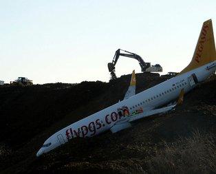 Trabzonda düşen uçakla ilgili yeni görüntüler ortaya çıktı