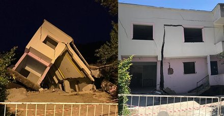 Ordu'nun Aybastı ilçesindeki heyelan bölgesinde çatlaklar oluşan evlerden 3'ü tamamen yıkıldı