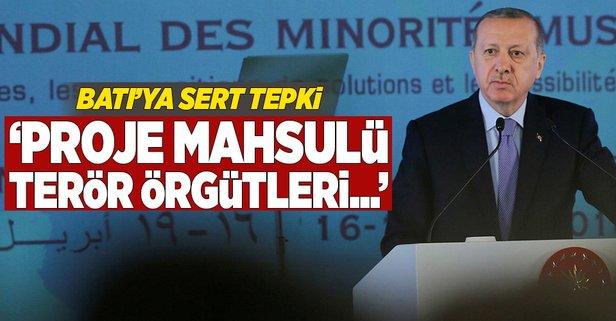 Erdoğandan Batı ülkelerine sert tepki