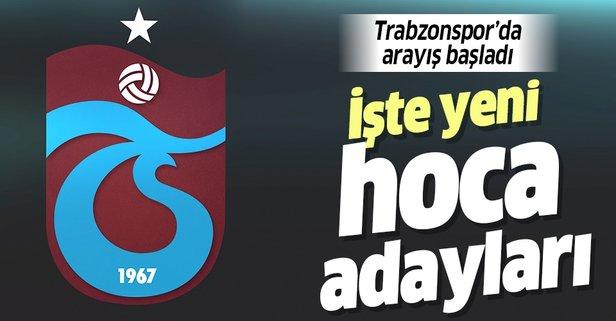 Trabzonspor'da arayış başladı! İşte yeni hoca adayları