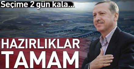 Cumhurbaşkanı Erdoğan 3. havalimanına TC-TUR'la inecek