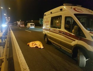 TEM'de feci kaza: Ceset parçalara bölündü