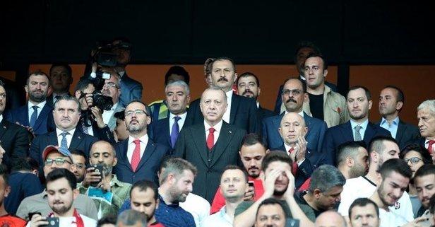 Başkan Erdoğan'dan Milli Takım'a destek mesajı