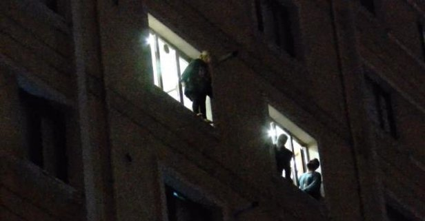 Kartal'da korku dolu anlar! 5'inci kattan atladı