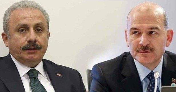 Soylu, TBMM Başkanı Mustafa Şentop ile görüştü