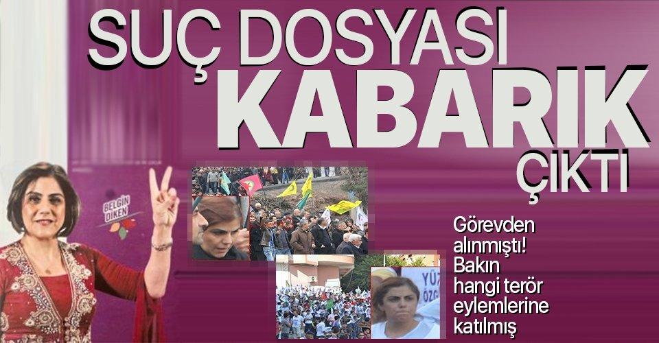 HDP'li Yenişehir Belediye Başkanı Belgin Diken'in suç dosyası kabarık çıktı! O eylemlere katılmış