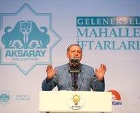 Cumhurbaşkanı Erdoğan Aksarayda konuştu