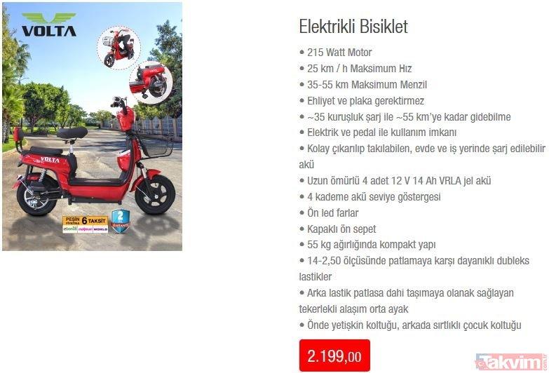 BİM'de elektrikli bisiklet dikkat çekiyor! 14 Haziran 2019 BİM aktüel ürünler kataloğunda neler var?