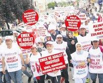 İşçiler CHP'yi kuşattı