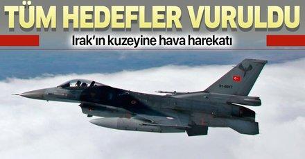 Son dakika: Türk savaş uçakları Metina'yı vurdu