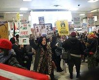 New York'ta Filistinli Temimi'ye destek gösterisi
