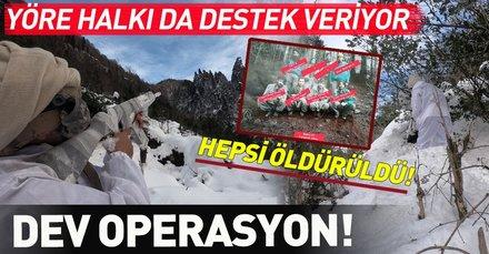 Karadeniz'de PKK'ya eş zamanlı büyük operasyon