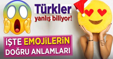 Türkler bu emojileri yanlış biliyor!