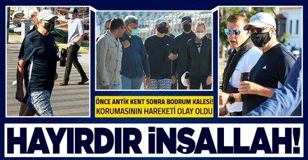 Bill Gates Türkiye'de! Efes Antik Kenti'nin ardından şimdi de Bodrum'da! Korumasının hareketleri olay oldu!