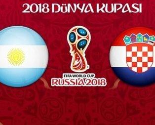 Canlı I Arjantin - Hırvatistan