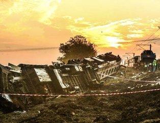 Tekirdağdaki tren kazasından yürek burkan manzaralar