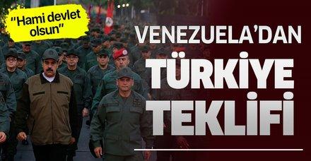 Venezuela'dan Türkiye ''hami devlet olsun'' teklifi