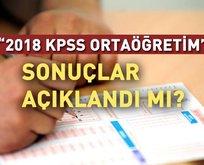 Ortaöğretim KPSS sonuçları saat kaçta açıklanacak?