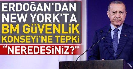 Erdoğandan New Yorkta BM Güvenlik Konseyine tepki: Neredesiniz?