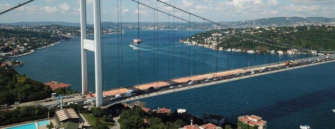 Fatih Sultan Mehmet Köprüsü'nde son durum! Havadan böyle görüntülendi
