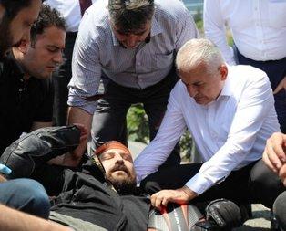Kaza geçiren vatandaşın yardımına Yıldırım koştu