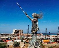 Beyrut Limanı'nda acı ve gözyaşı heykel oldu!