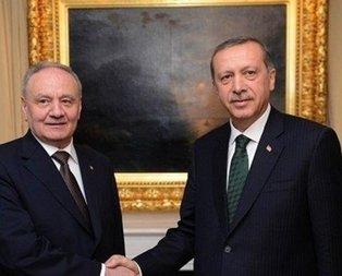 Erdoğan, Moldova Cumhurbaşkanı ile görüştü