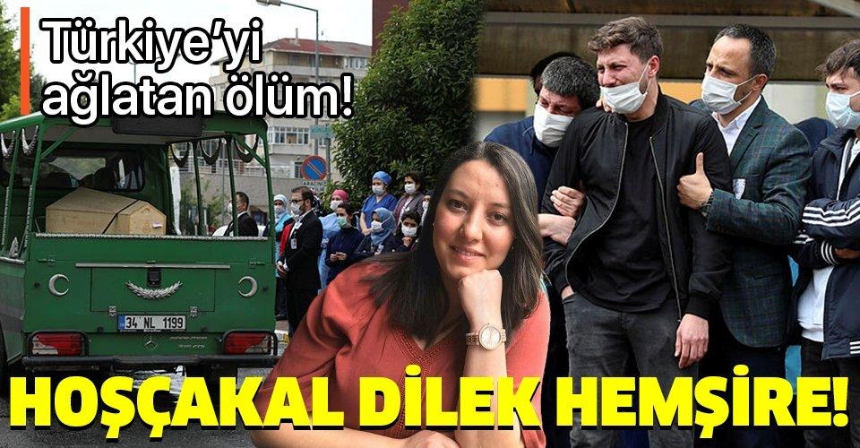 Türkiye Dilek hemşireye ağladı! Koronavirüsten hayatını kaybeden Dilek Akçabelen için çalıştığı hastanede tören düzenlendi!