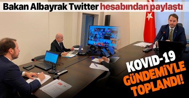 Bakan Albayrak paylaştı: Kovid-19 gündemiyle toplandı