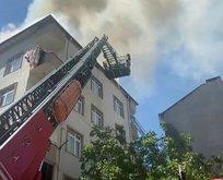 İstanbul'da yangın paniği! Mahalleli sokağa döküldü