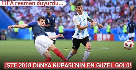 Dünya Kupasının en güzel golü açıklandı