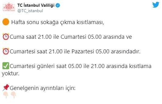 İstanbul Valiliği'nden son dakika sokağa çıkma kısıtlaması açıklaması! O Saatlere dikkat - Takvim