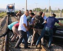 Tren raylarında büyük panik!