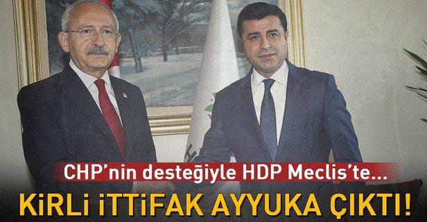 CHP'nin desteğiyle HDP Meclis'te