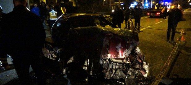 Trabzon'da feci kaza! Otomobil viyadük ayağına çarptı; 2 ölü, 3 yaralı
