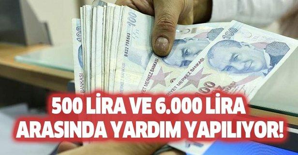 Eylül ayında herkese yardım! 500 lira ile 6.000 lira...