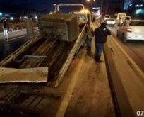 İstanbul trafiğini kilitleyen kaza!