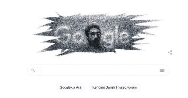 Kuzgun Acar Google'da doodle oldu