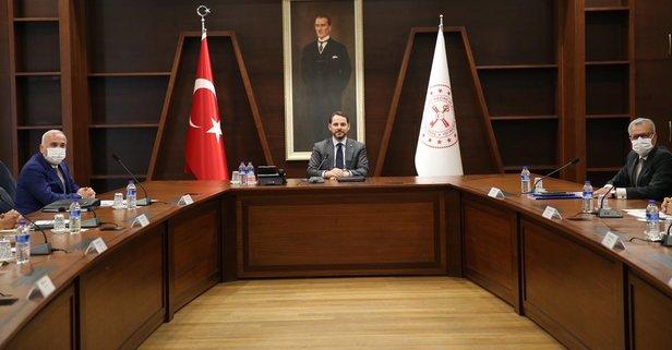 Bakan Albayrak bankaların genel müdürleriyle görüştü