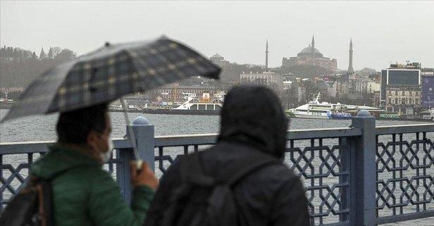 Meteoroloji uyardı! Şemsiyesiz çıkmayın