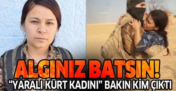 'Yaralı Kürt kadını' PKK/YPG'nin kadın komutanı çıktı!