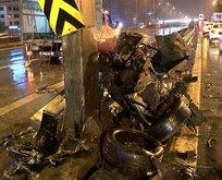 D-100 Karayolu'nda feci kaza:  2 ağır yaralı