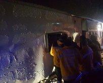 Kırşehir'de otobüs kazası! Ölü ve yaralılar var