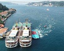 İstanbul Boğazı'ndaki yarış nefes kesti