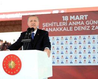 Cumhurbaşkanı Erdoğan Çanakkalede duyurdu