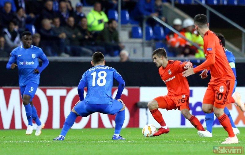 Avrupalı Beşiktaş geri döndü! | Genk: 0 - Beşiktaş: 1 Maç sonucu