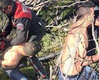 Muğla'da iğrenç saldırı! Polis yarı çıplak ormanda yakaladı