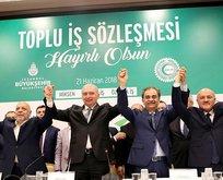 12 bin 850 İBB çalışanı alkışlarla toplu sözleşmeye imza attı
